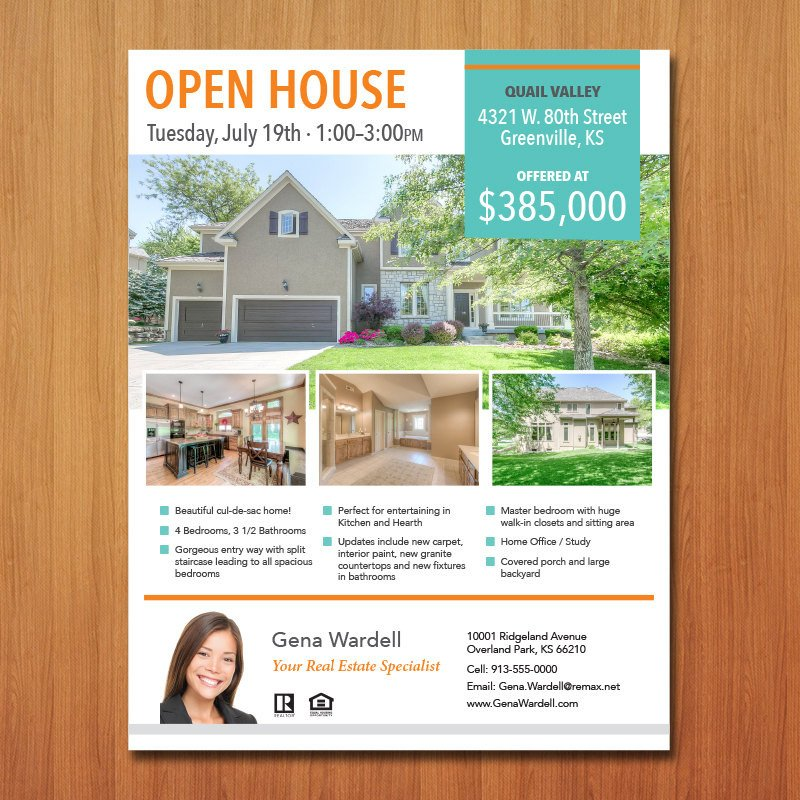 Open House Flyer Template Word Real Estate Flyer Template Microsoft Publisher Word Apple
