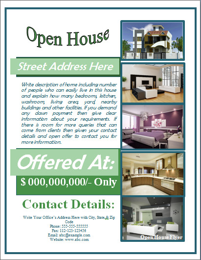 Open House Flyer Template Word Sample Open House Flyer Template