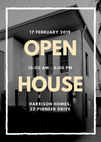 Open House Flyer Templates Customize 101 Real Estate Flyer Templates Online Canva