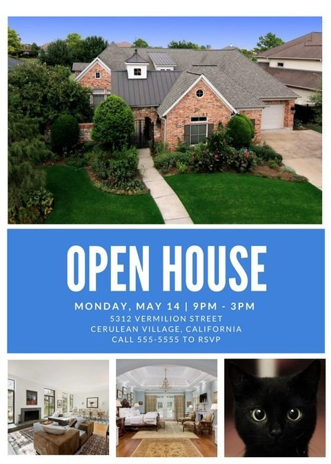 Open House Flyer Templates Free Open House Flyer Template – Downloadable