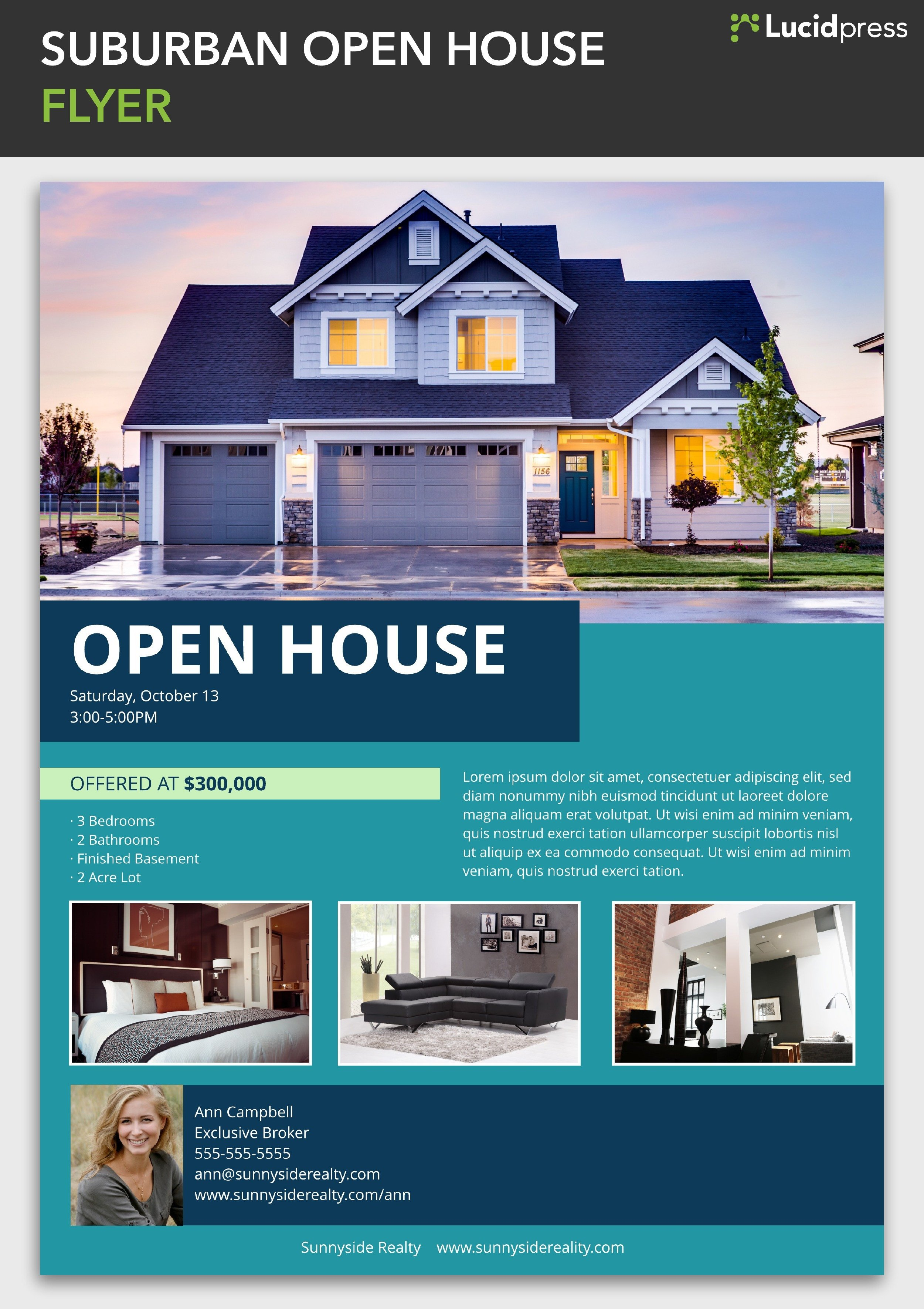 Open House Flyer Templates How to Build A social Media Campaign for Real Estate