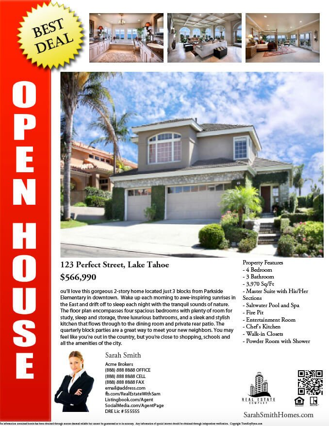 Open House Flyer Templates Real Estate Flyers Pdf Templates Turnkey Flyers
