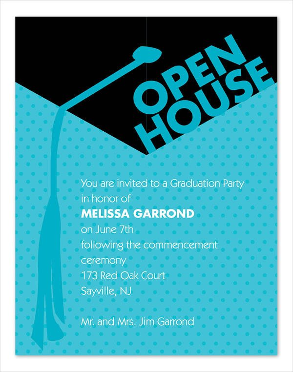 Open House Invitation Templates 49 Graduation Invitation Designs & Templates Psd Ai