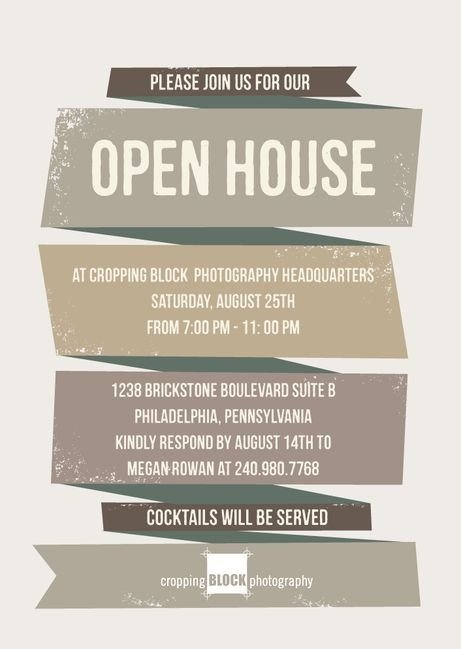 Open House Invitation Templates Business Open House Invitation Template