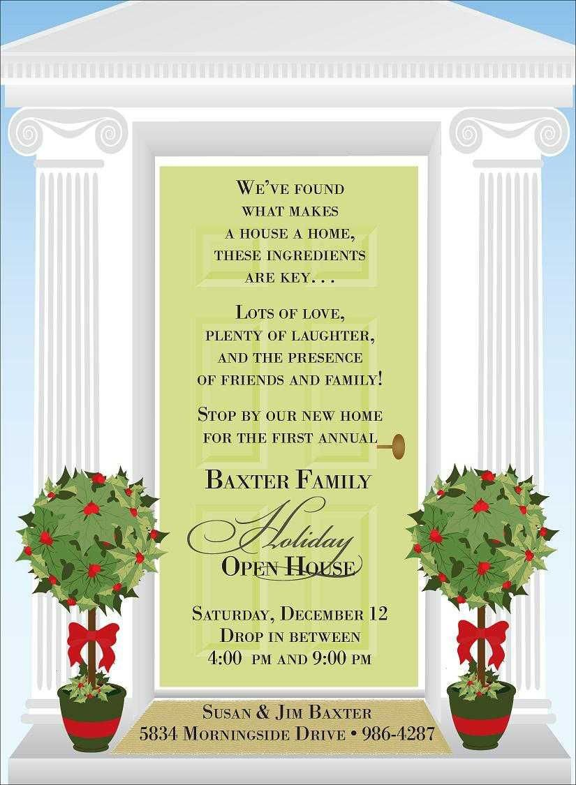 Open House Invitation Templates Christmas Open House Invitations