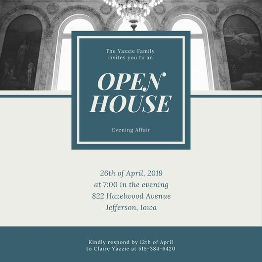 Open House Invitation Templates Customize 498 Open House Invitation Templates Online Canva