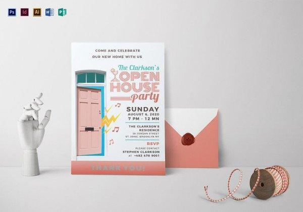 Open House Invite Templates 25 Open House Invitation Templates Free Sample Example