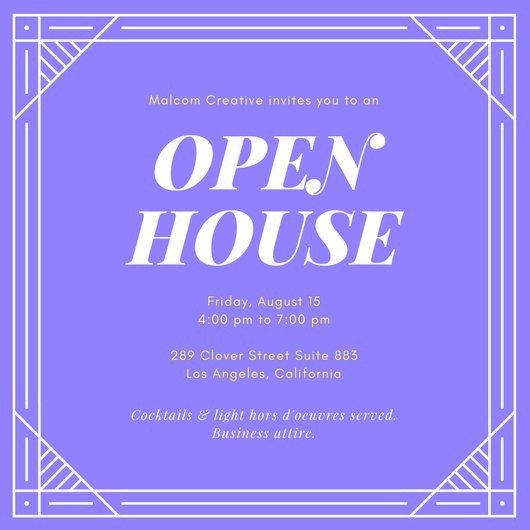 Open House Invite Templates Customize 127 Open House Invitation Templates Online Canva