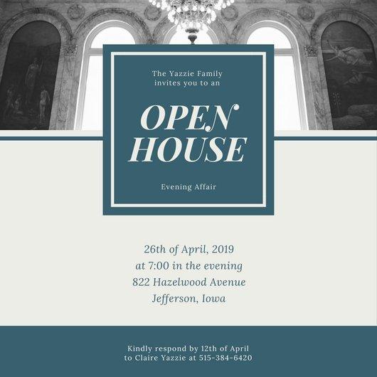 Open House Invite Templates Customize 498 Open House Invitation Templates Online Canva