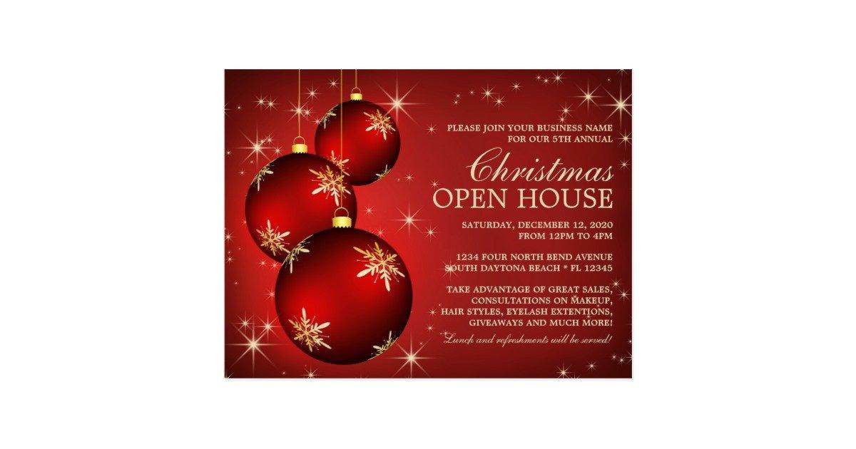 Open House Invite Templates Elegant Christmas Open House Invitation Template Postcard