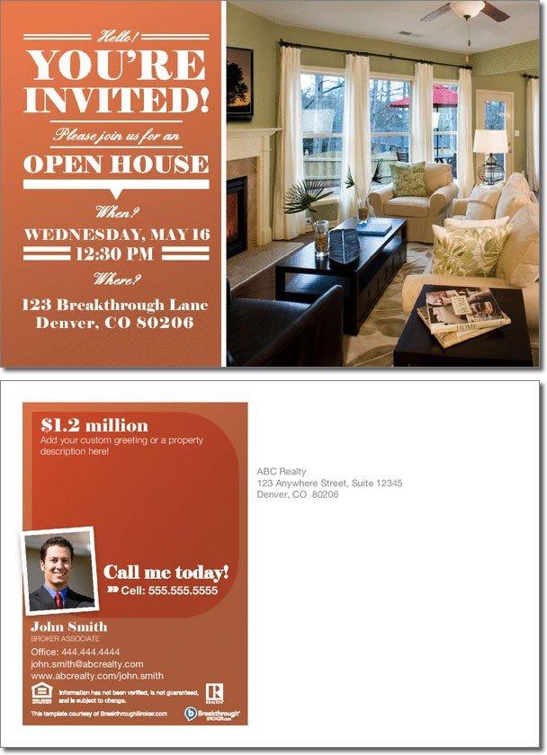 Open House Invite Templates Open House Invitation Postcard
