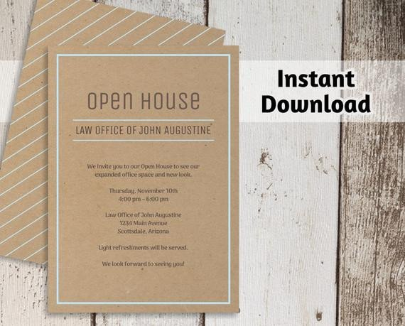 Open House Invite Templates Printable Business Invitation Template Open House Business