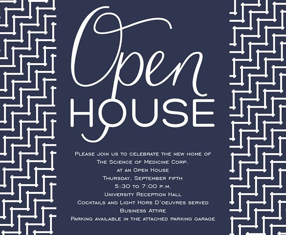 Open House Postcard Template 14 Open House Invitation Templates Free Psd Vector Eps