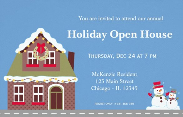 Open House Postcard Template 25 Open House Invitation Templates Free Sample Example
