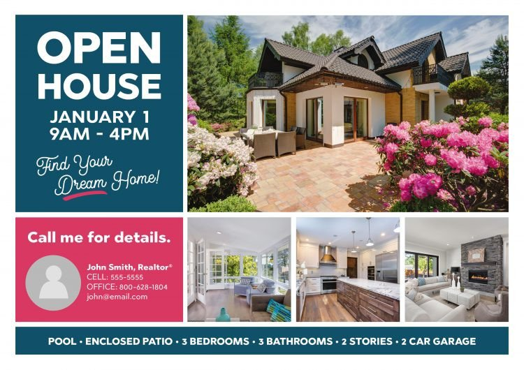 Open House Postcard Template 6 Gorgeous Real Estate Open House Invitation Postcard
