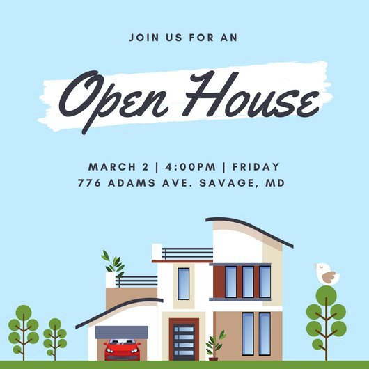 Open House Postcard Template Customize 498 Open House Invitation Templates Online Canva