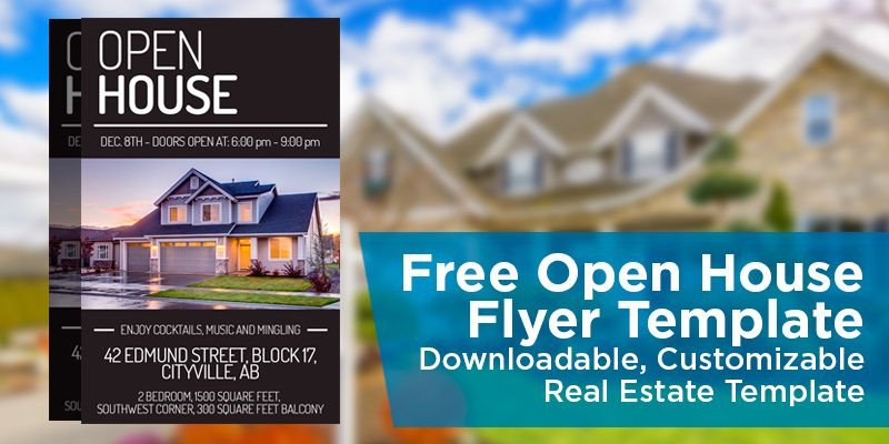 Open House Postcard Template Free Open House Flyer Template – Downloadable
