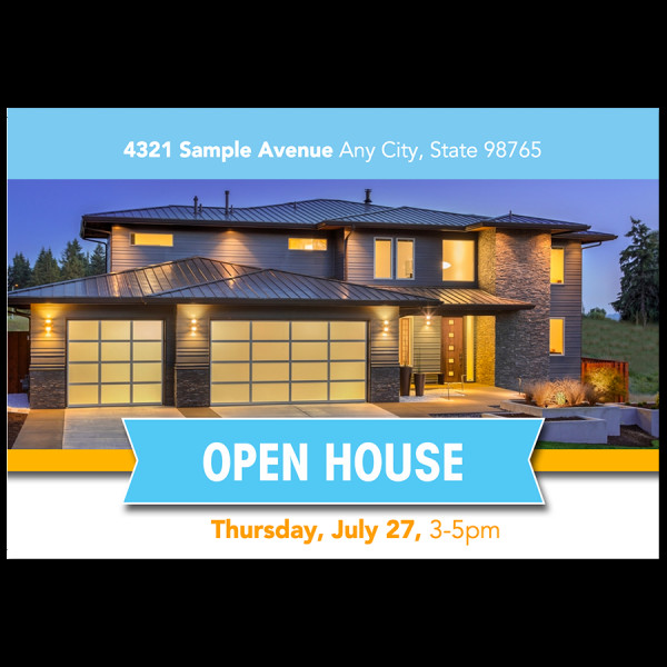 Open House Postcard Template Free Real Estate Postcards and Templates