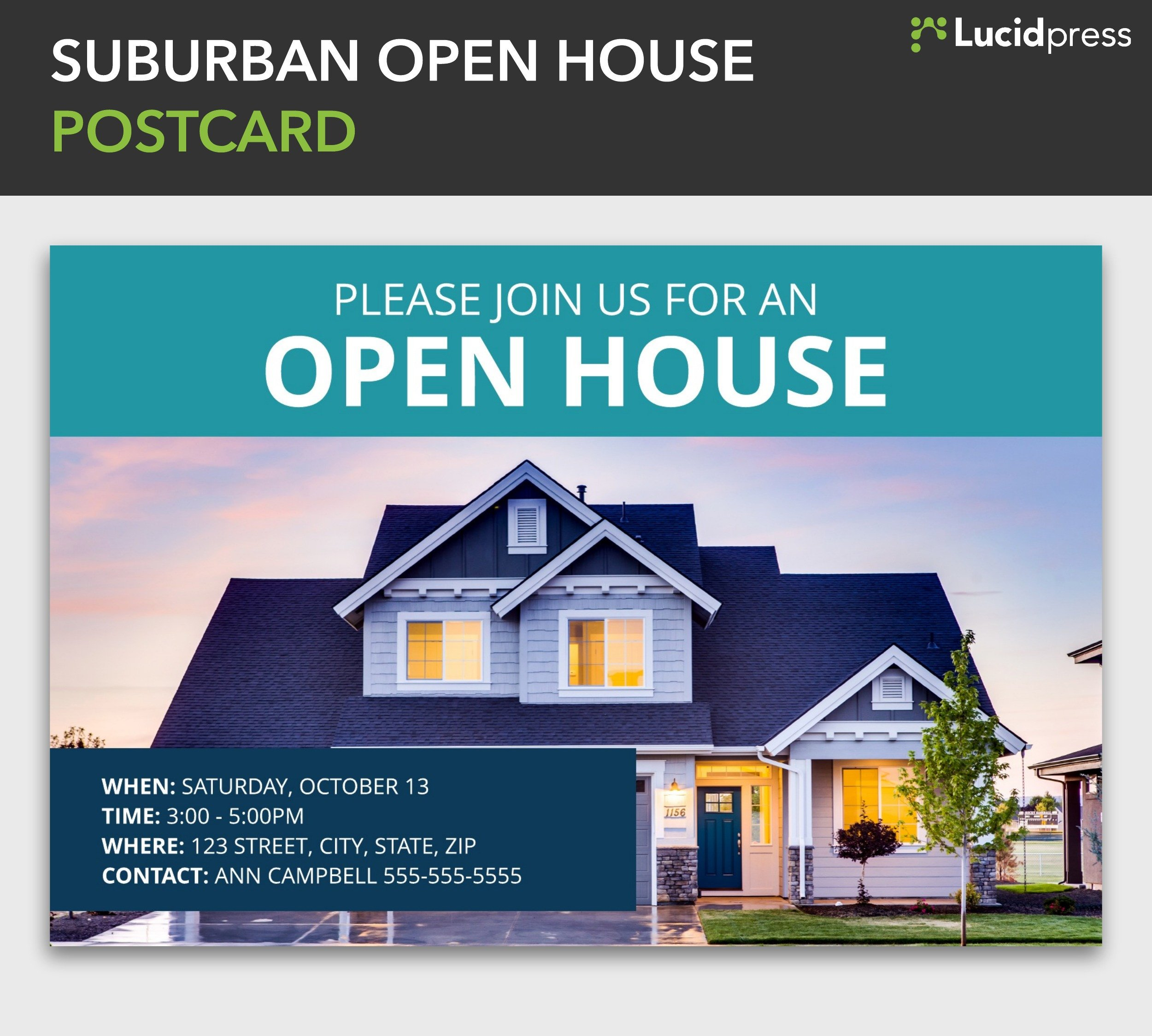 Open House Postcard Template How to Build A social Media Campaign for Real Estate