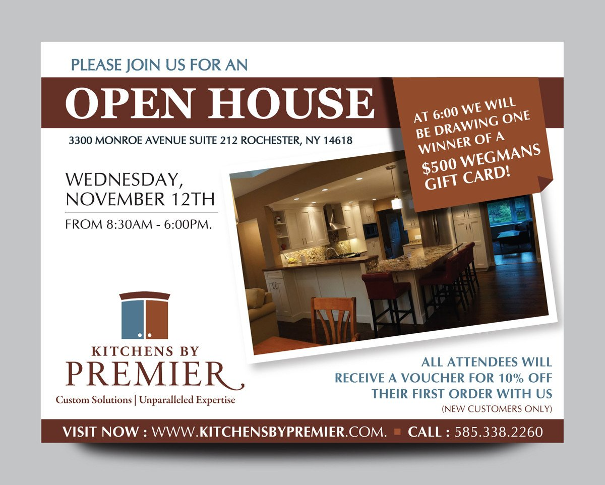 Open House Postcard Template Industry Postcard Design for A Pany by Rkailas