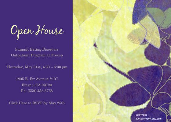 Open House Postcard Template Open House Celebrating Our New Outpatient Treatment
