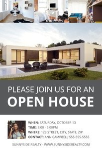 Open House Postcard Template Real Estate Postcard Templates & Examples