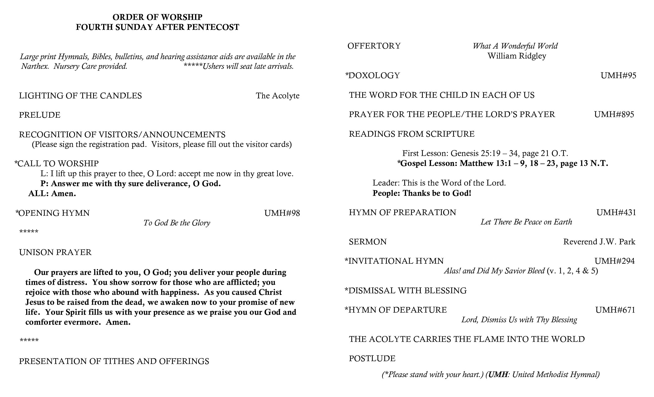 Order Of Worship Service Template Best S Of order Worship Church Service Baptist