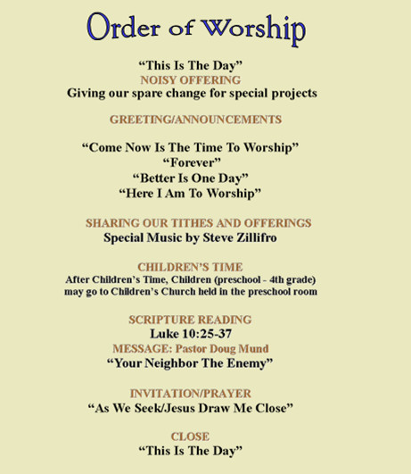 Order Of Worship Service Template New to Grace Fellowship