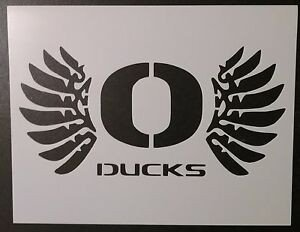 "Oregon Ducks Pumpkin Stencil oregon Ducks 11"" X 8 5"" Custom Stencil Fast Free Shipping"