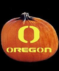 Oregon Ducks Pumpkin Stencil Spookmaster oregon Ducks College Football Team Pumpkin
