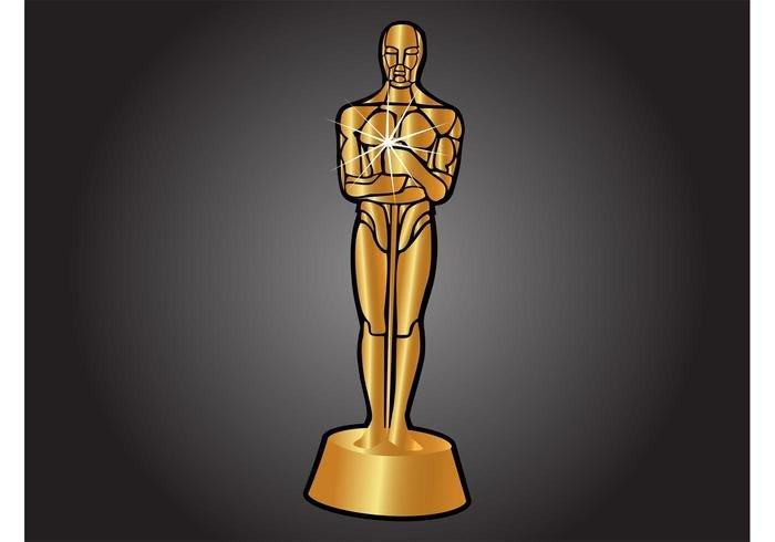 Oscar Statue Template Academy Award Vector Download Free Vector Art Stock