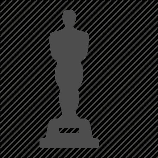 Oscar Statue Template Award Movie Oscar Prize Statue Icon