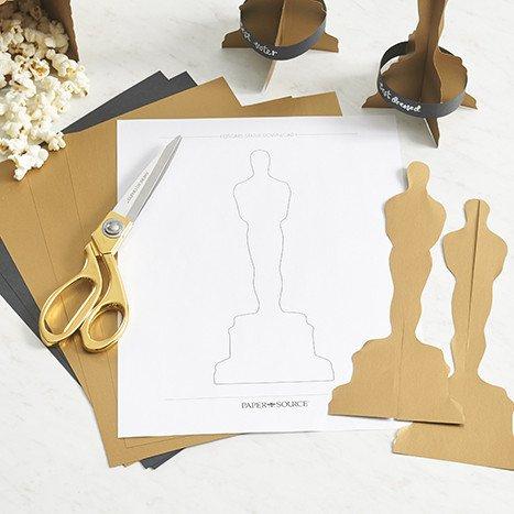 Oscar Statue Template Diy An Award Winning Oscars Party Paper source Blog