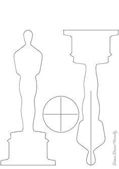 Oscar Statue Template Diy Oscar Statue Paper Cut Out
