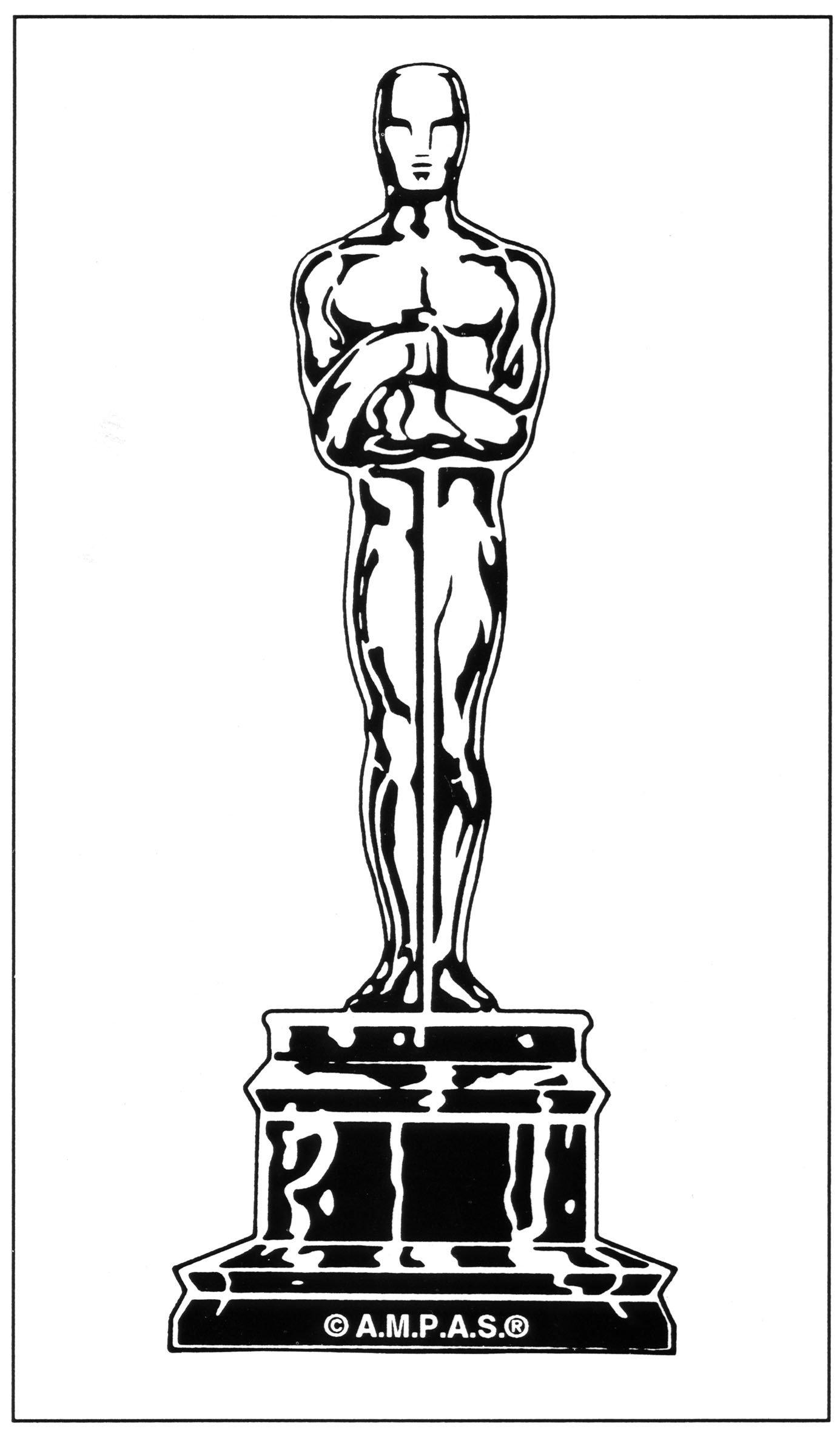 Oscar Statue Template Oscar Logo