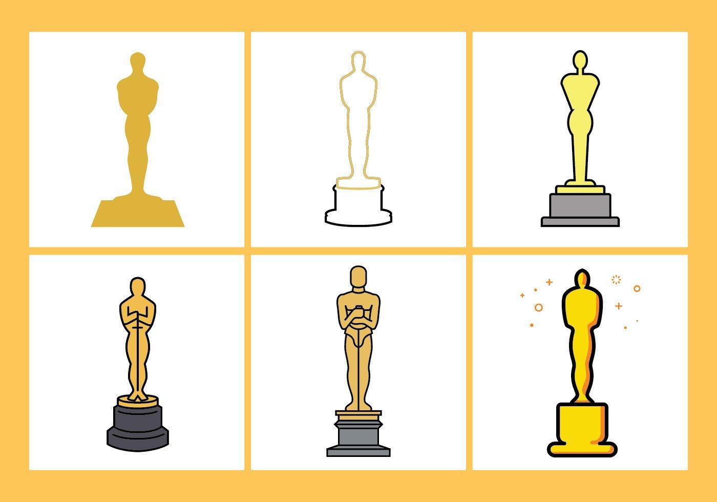 Oscar Statue Template Oscar Statue Vector Set Download Free Vector Art Stock