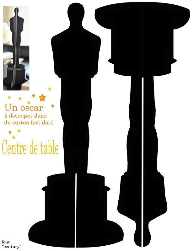 Oscar Statue Template Printable Oscar Statue Craft Ideas Pinterest