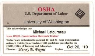 Osha 10 Card Template Certifications & Training