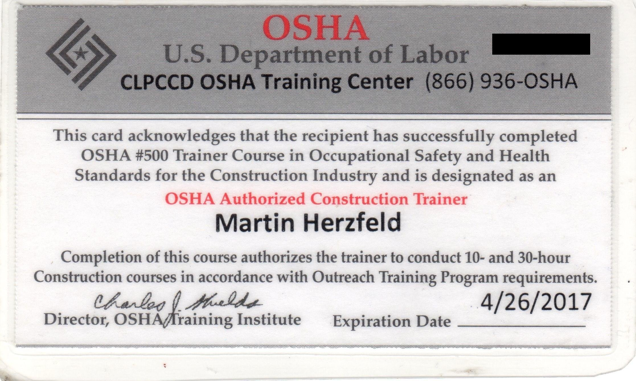 Osha 10 Card Template Licensed solar Contractor & Project Consultant Licensed