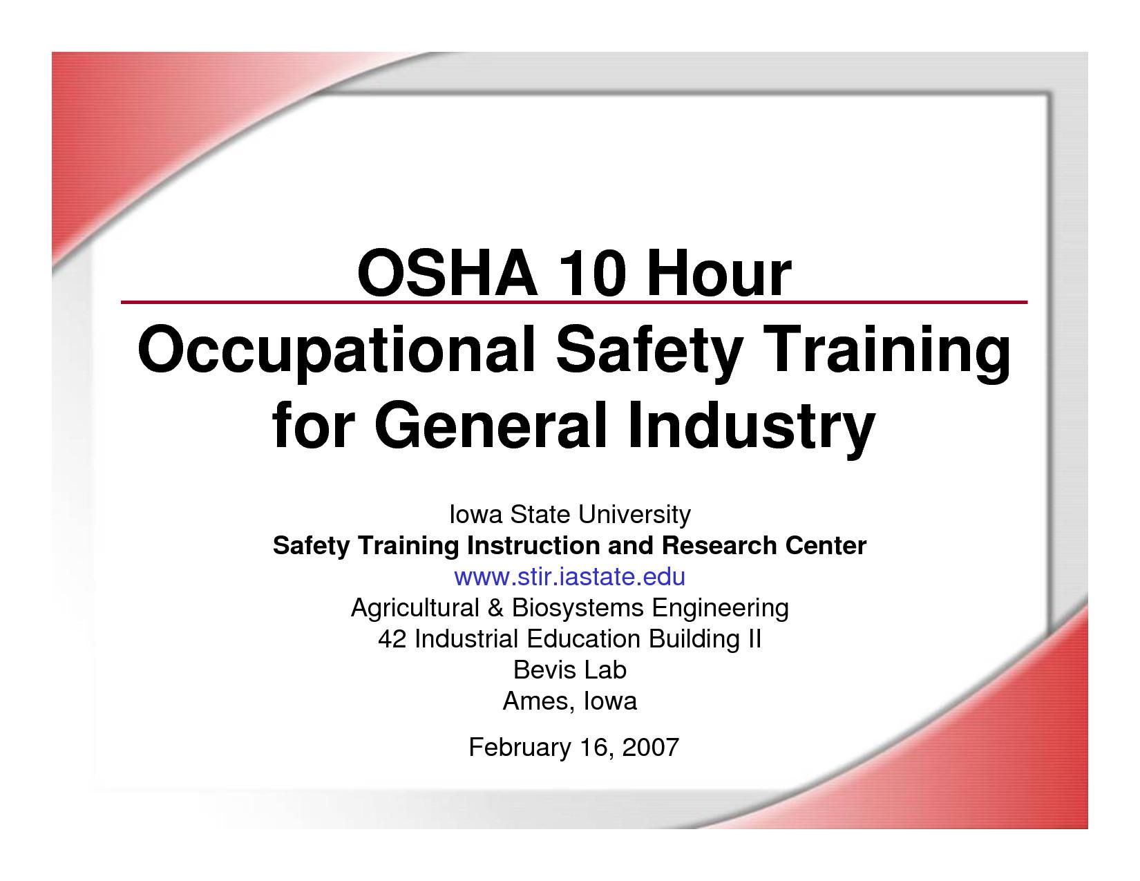 Osha 10 Card Template Osha Training Certificates Printable to Pin On