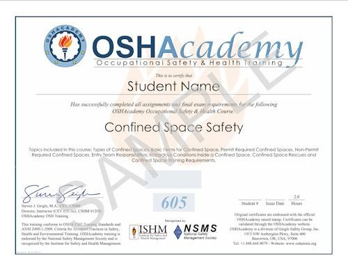 Osha 10 Card Template Oshacademy Free Line Osha Occupational Safety and Health