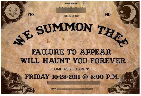 Ouija Board Invitation Template Halloween Invitation Ouija Board