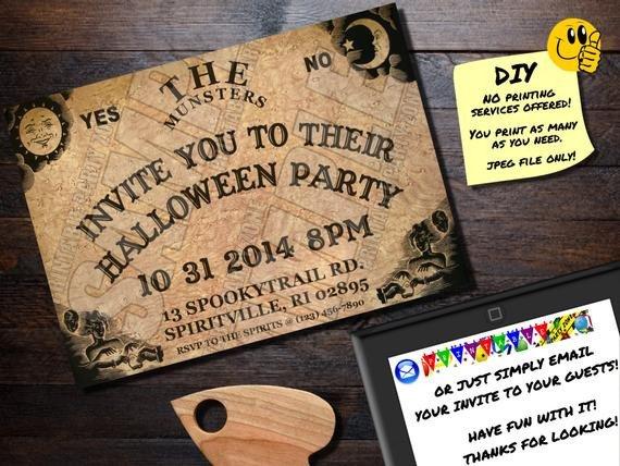 Ouija Board Invitation Template Halloween Invitation Ouija Board Printable Invite Emailable