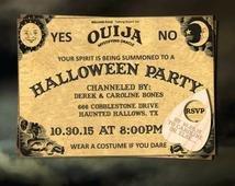 Ouija Board Invitation Template Halloween Party Invitation Printable Invitation Ouija