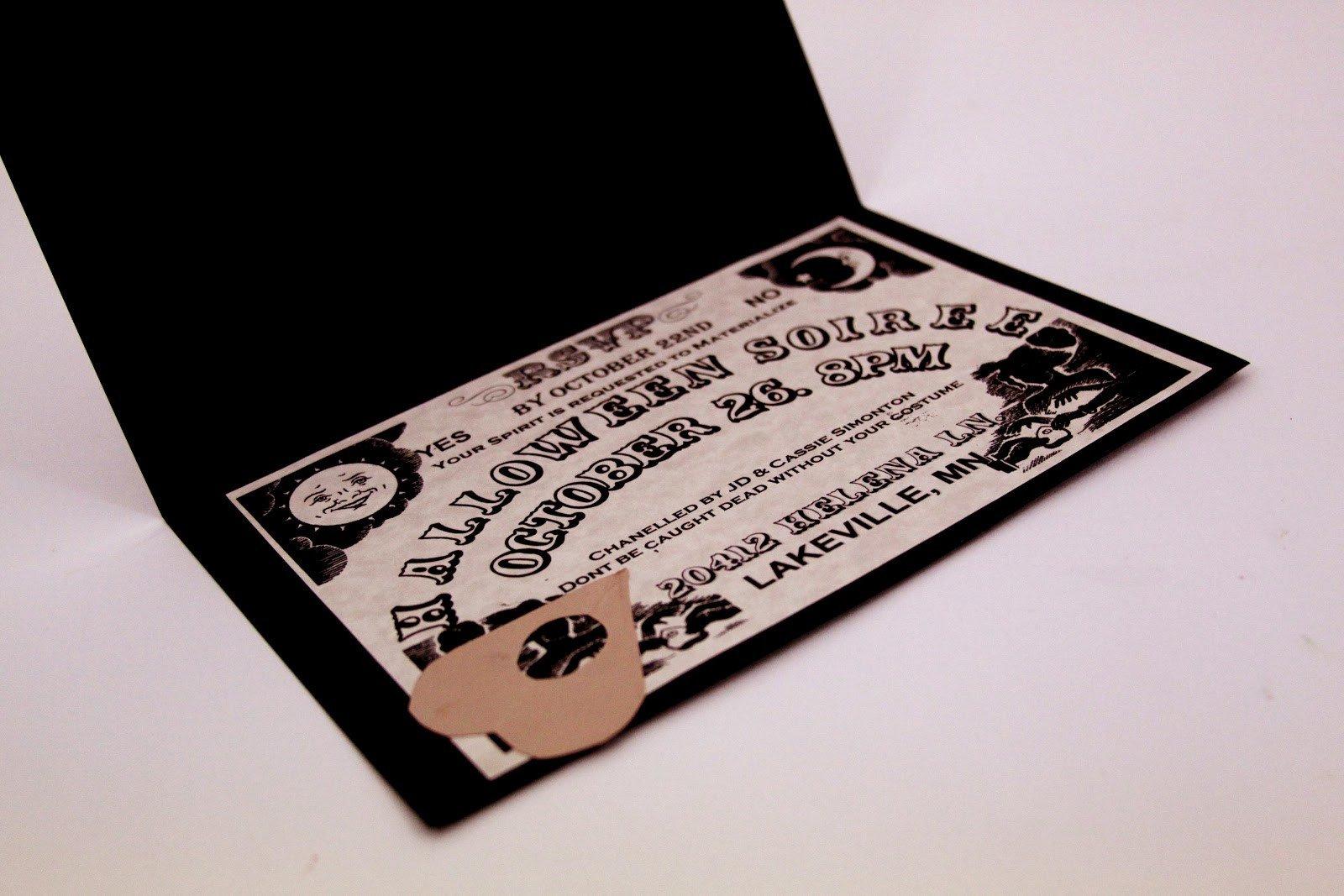 Ouija Board Invitation Template I Do A Dime Ouija Board Invitations