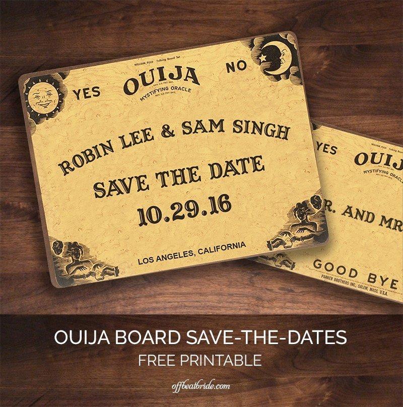 Ouija Board Invitation Template I Predict You Will Love This Ouija Board Save the Date