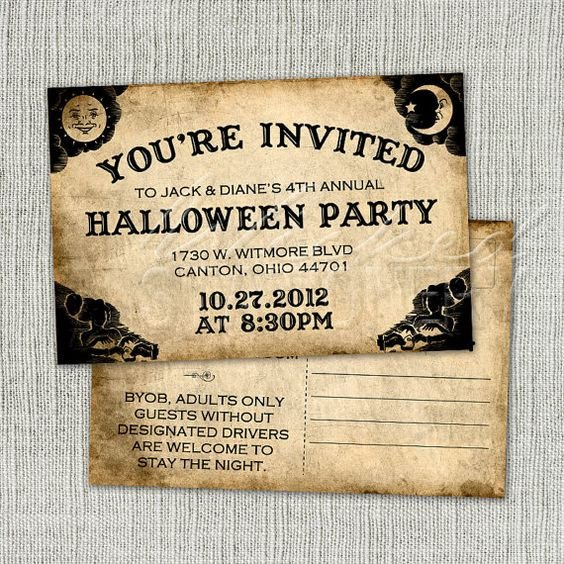 Ouija Board Invitation Template Ouija Board Halloween Invitation Postcard by