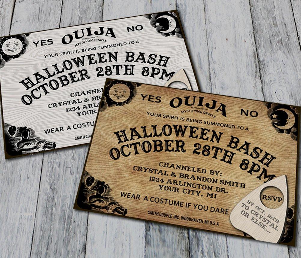 Ouija Board Invitation Template Ouija Board Halloween Party Invitations Digital