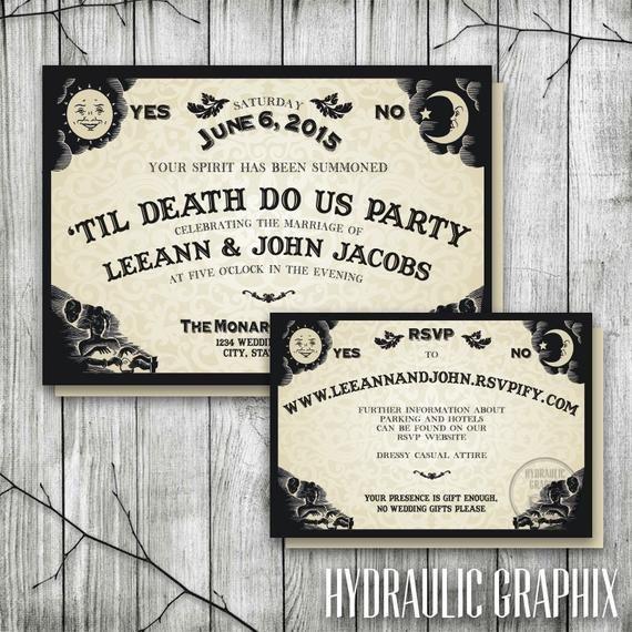 Ouija Board Invitation Template Ouija Board Invitation for Wedding Reception Halloween