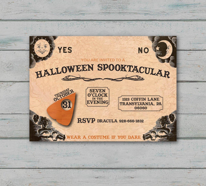 Ouija Board Invitation Template Ouija Board Party Invitation